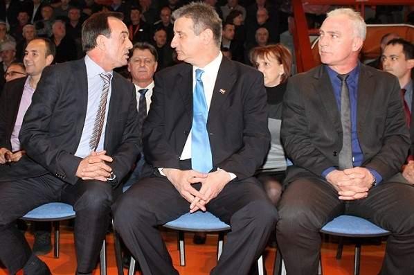 Ante Kulušić, Tomislav Karamarko i Goran Pauk na proslavi 24. obljetnice HDZ-a (Foto: Hrvoslav Pavić)