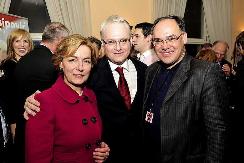 Pusić, Josipović i Kajin za vrijeme predsjedničkih izbora (izvor: Wikipedia) predsjedničkim izborima