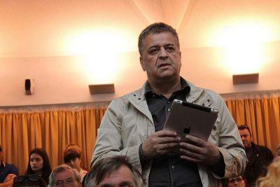 Miroslav Jeličić Purko na tribini u knjižnici (Foto: H. Pavić)