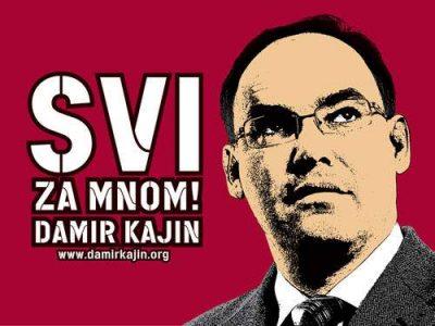 Damir Kajin na jednom od predizbornih plakata
