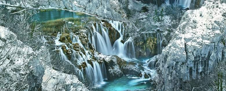 Zimska idila na Plitvicama (foto: NP Plitvička jezera)