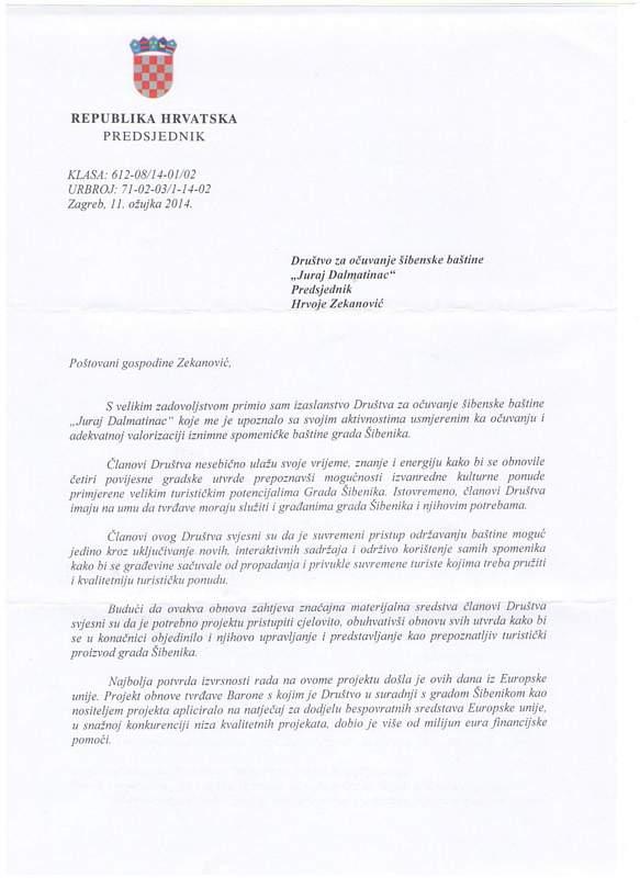 Pismo dr. Josipovića