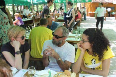 Brazilska ekipa pisaca na slapovima Krke