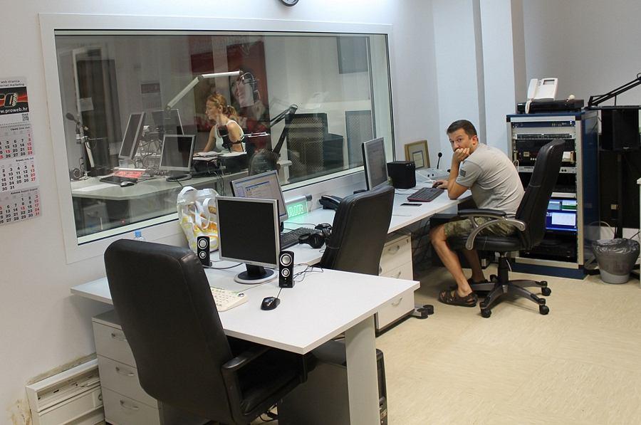 Županijski radio Šibenik - Štrajk (Foto H. Pavić)  (2)