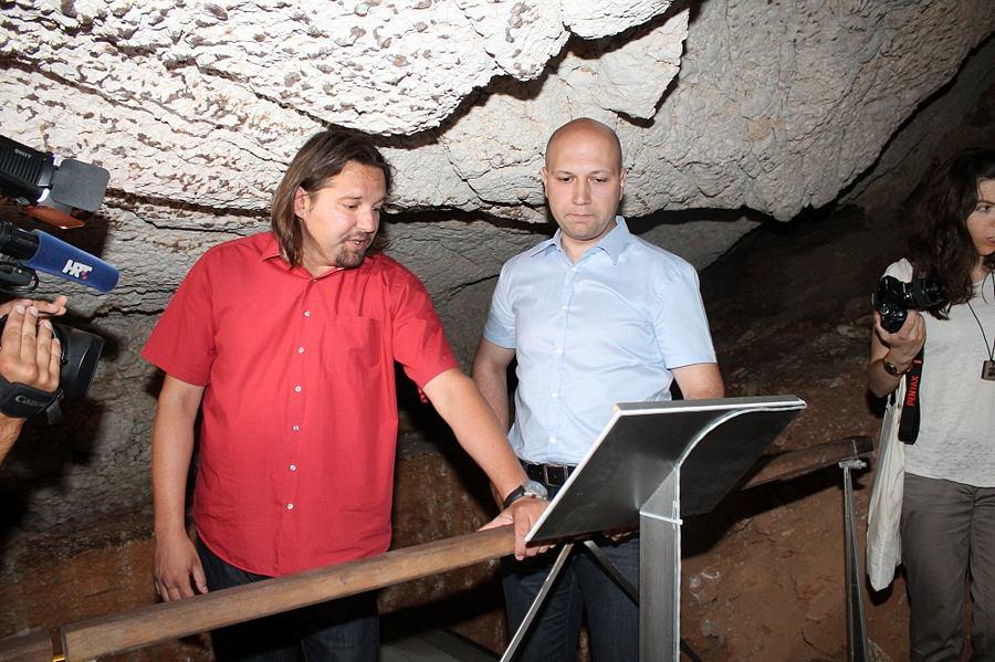 Tonči Restović i Mihael Zmajlović 1. srpnja u NP Krka (Foto H. Pavić)
