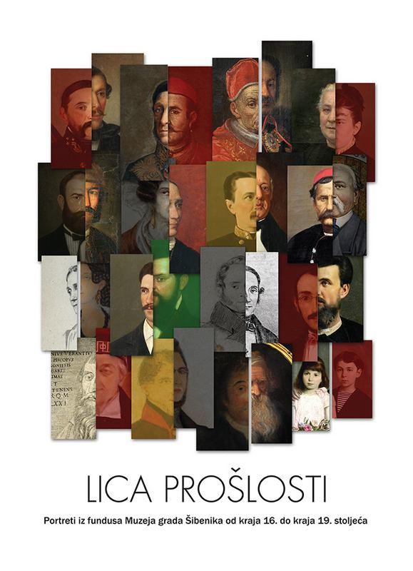 Plakat izložbe Lica prošlosti (autor Ante Filipović Grčić)