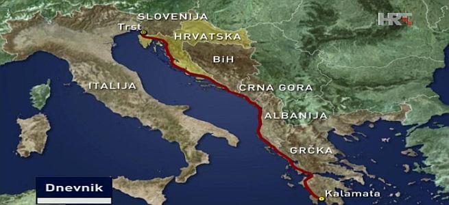 Od Trsta do Atene bez zasustavljanja do 2050. (Izvor screenshot HTV)