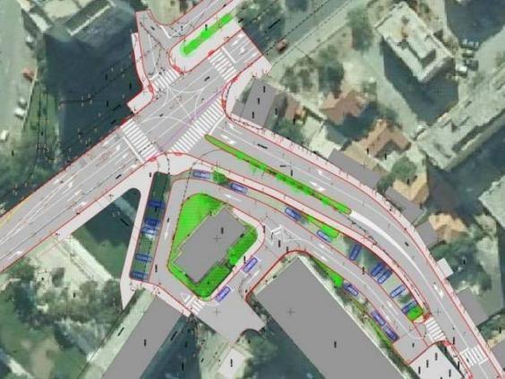 Demokršćanska prometna vizija križanja Radićeve i Bosanske ulice (izvor www.sibenik.hr)