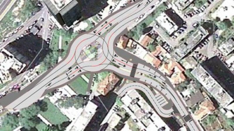 Socijaldemokratska prometna regulacija vrti se oko kružnog toka (izvor www.sibenik.hr)