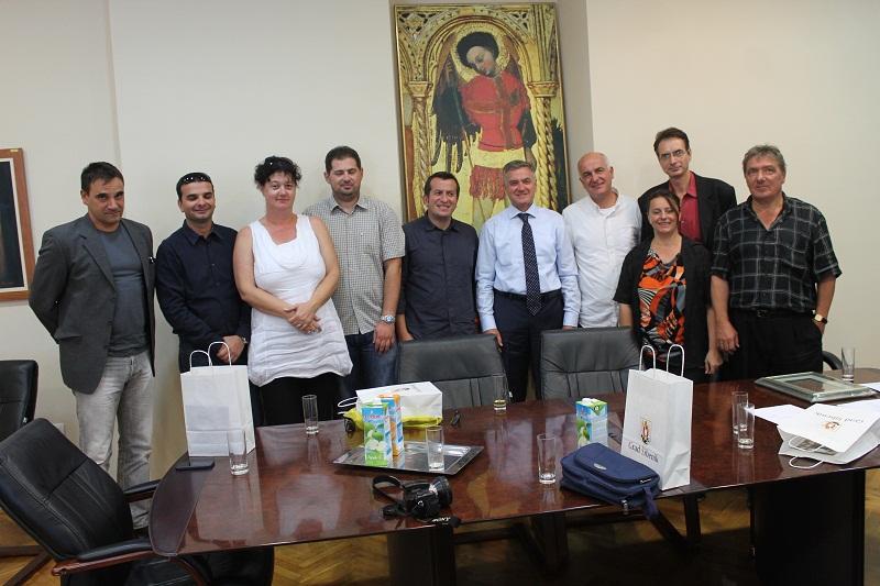 Makedonski novinari na prijamu kod gradonačelnika Šibenika dr. Željka Burića (Foto H. Pavić) (2)