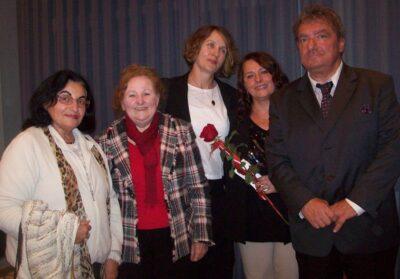 Autor Sašo Georgievski s predstavnicima Zajednice Hrvata u Republici Makedoniji