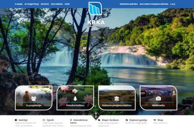 Nova web stranica NP Krka