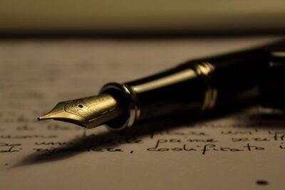 Pišem pismo, tinta mi se proli... (foto Wikipedia)