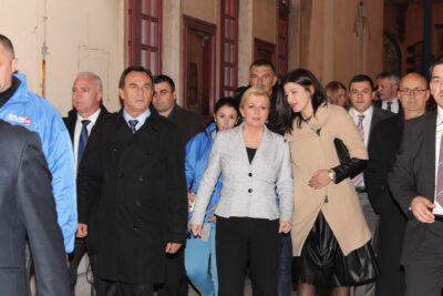 Kolinda u Šibeniku: 'Ne nudim vam učene fraze, nikakve floskule, nudim bolji život Hrvatskoj'