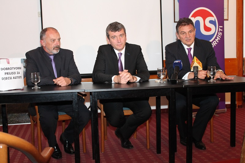Boris Berović, Petar Baranović i Radimir Čačić (Foto H. Pavić)