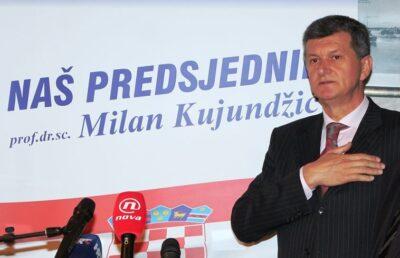 Arhiva: Predsjednički kandidat Milan Kujundžić 2014. u Šibeniku (Foto TRIS/H. Pavić