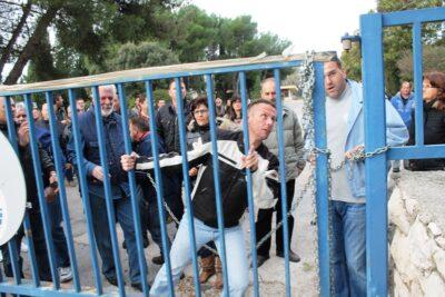 Nedavni radnički prosvjed u TLM-u - foto TRIS/H. Pavić
