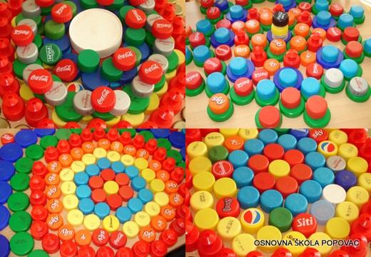 Evo što su djeca iz Osnovne škole Popovac učinili s čepovima (izvor OŠ Popovac)