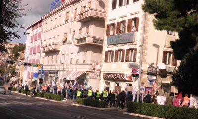 Šibenik-prosvjed radnika TLM-a, snimila: J. Klisović