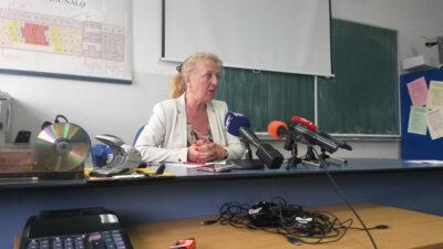 Diana Vodanović na današnjoj presici