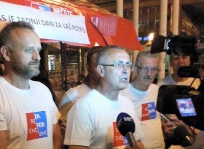 Inicijatori Referenduma svih referenduma noćas u Zagrebu
