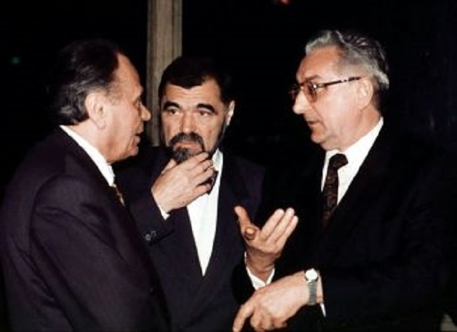 Josip Manolić, Stjepan Mesić i Franjo Tuđman 1991.
