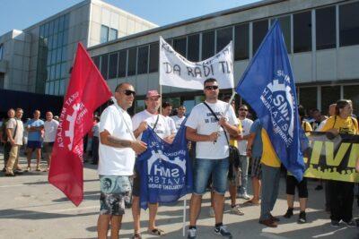 Prosvjed radnika šibenskog TLM-a – uskoro i blokada Magistrale