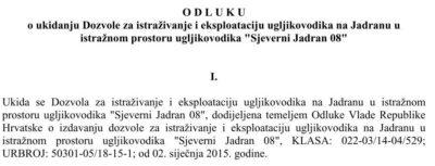 Došao i taj dan: Ukinute dozvole za bušenje Jadrana / Poruka svim Vladama: Građani neće dopustiti da Hrvatska postane naftna kolonija