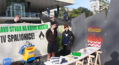 Prosvjed kod M. Bandića: Ne stavljajte pravu stvar na krivo mjesto, okanite se spaljivanja otpada i – radnih mjesta