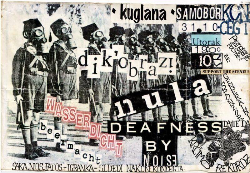 Plakat za koncert u Samoboru sa 'spornim' natpisom: 'Šaka, nos, patos - igranka'