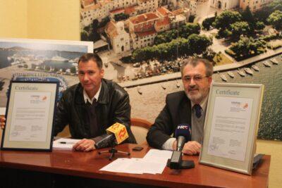 Marko Turčinov i Josip Zanze na današnjoj konferenciji za novinare (Foto Tris/H. Pavić)