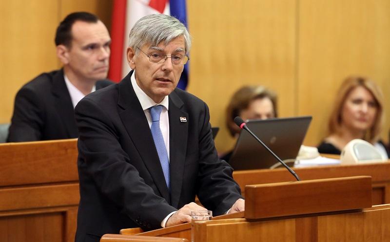 Željko Reiner na konstituirajućoj sjednici Hrvatskog sabora (Foto Damir Senčar/Hina)