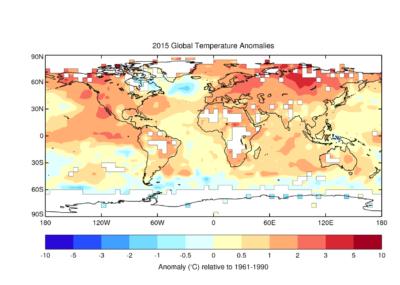 Svjetska meteorološka organizacija: 2015. najtoplija godina od početka mjerenja