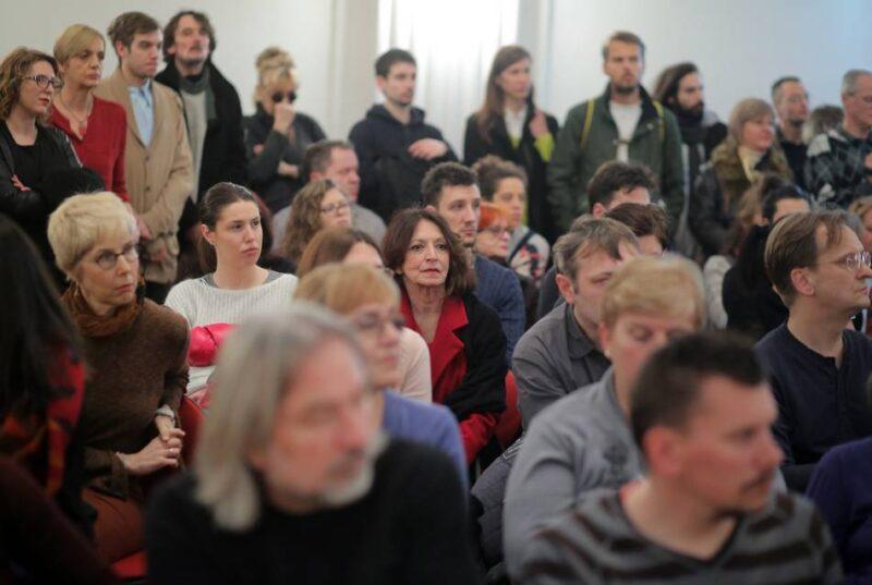 "Protestna tribina Kulturnjaci 2016 pod nazivom ""Zašto smo potpisali"". foto HINA/ Tomislav Pavlek"