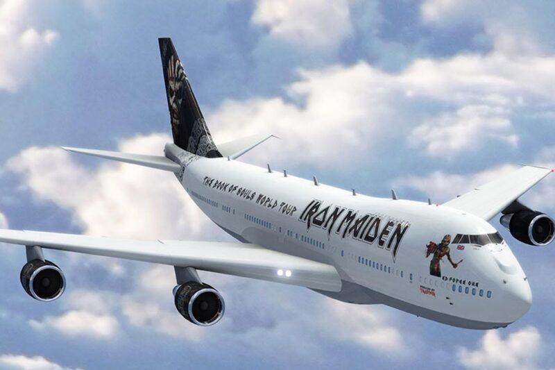 Avion Ed Foce One u zraku (foto Iron Maiden)