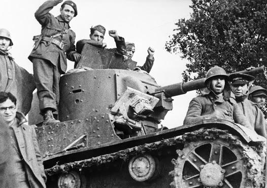 Republikanski tenkisti 1937. godine na frontu kraj Madrida