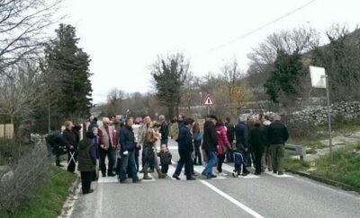 Nedavni prosvjed (foto Facebook)