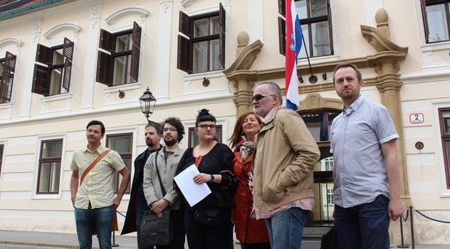 S današnjeg obraćanja javnosti predstavnika udruga (FOTO ZELENA AKCIJA)