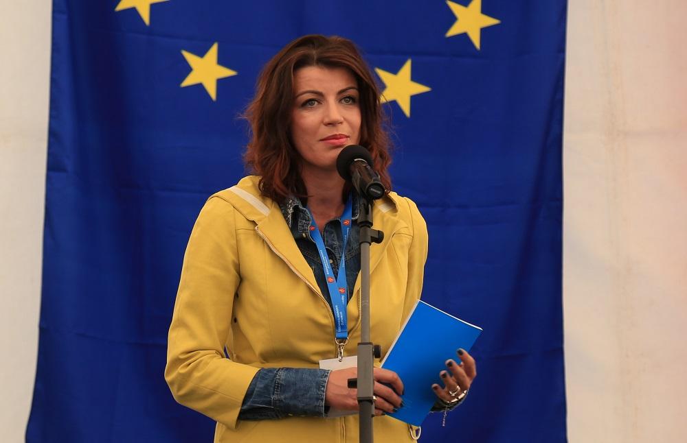 Sajam je u ime Željka Rainera i Tomislava Karamarka otvorila saborska zastupnica Josipa Rimac (Foto: Tris/H. Pavić)
