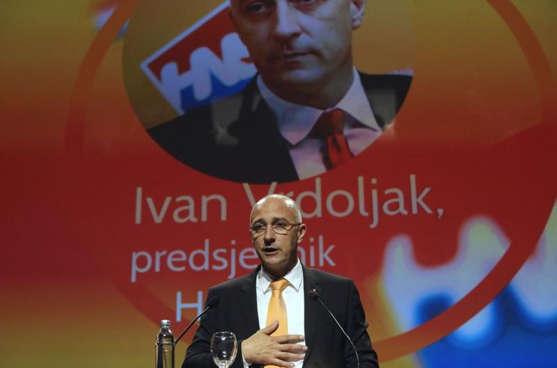 Na izbornom Saboru Hrvatske narodne stranke - Liberalnih demokrata (HNS) Ivan Vrdoljak (na fotografiji) je izabran za predsjednika stranke. foto HINA / Lana SLIVAR DOMINIĆ