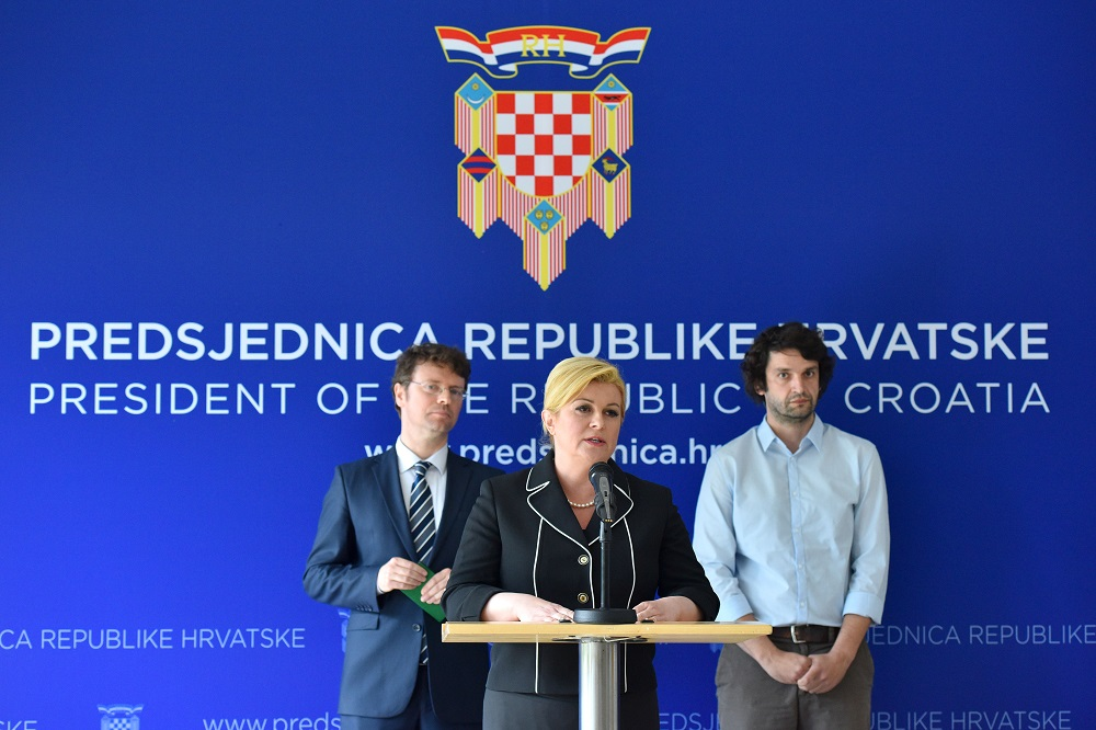 Kolinda, Šustar i Jokić (Foto Ured predsjednice)