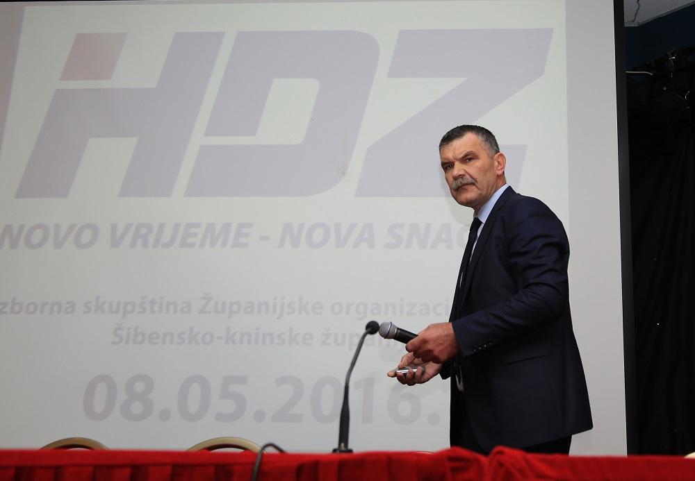 Nediljko Dujić na današnjojs izbornoj skupštini(Foto: Tris/H. Pavić)