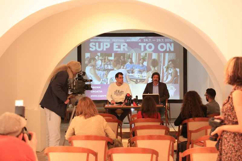 Supertoon - konferencija za novinare - Petar Trebotic i Slave Lukarov (Foto H. Pavic)