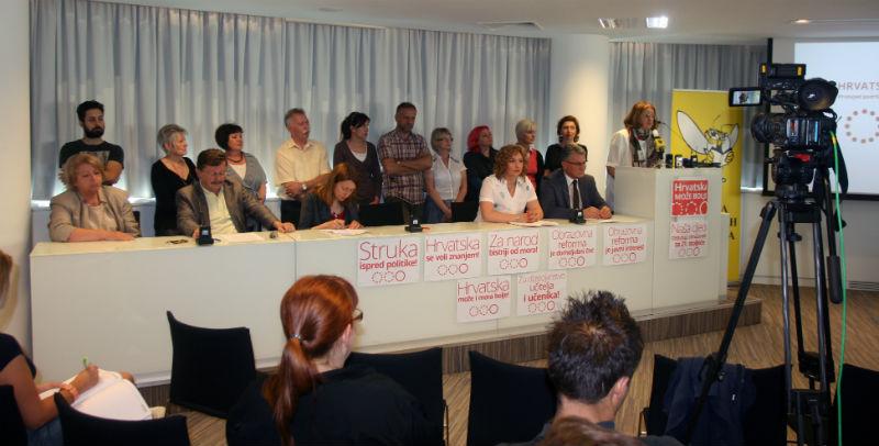 Prosvjedi za reformu obrazovanja bez stranaka i politike