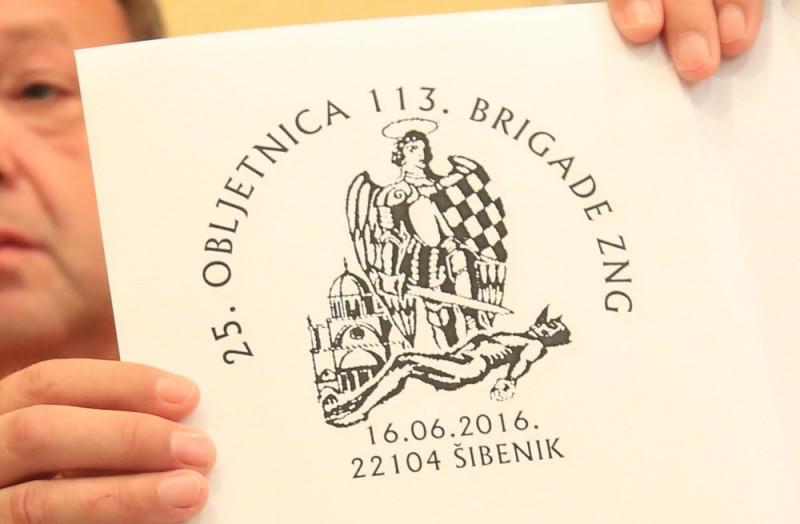 Prigodni poštanski pečat koji za ovu prigodu, uz prigodnu dopisnicu, izdaje šibensko Društvo filatelista (Foto: Tris/H. Pavić)