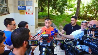 SDP-ovac Igor Dragovan danas u Splitu (foto TRIS/G.Šimac)
