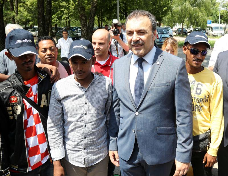 Prvi migranti stigli u prihvatilište Porin