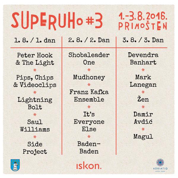 Objavljen raspored izvođača na SuperUho festivalu