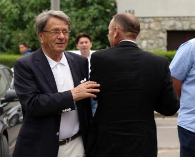 Miroslav Blažević prošlog mjeseca na druženju s HDZ-om.Foto Hina/ Dario GRZELJ
