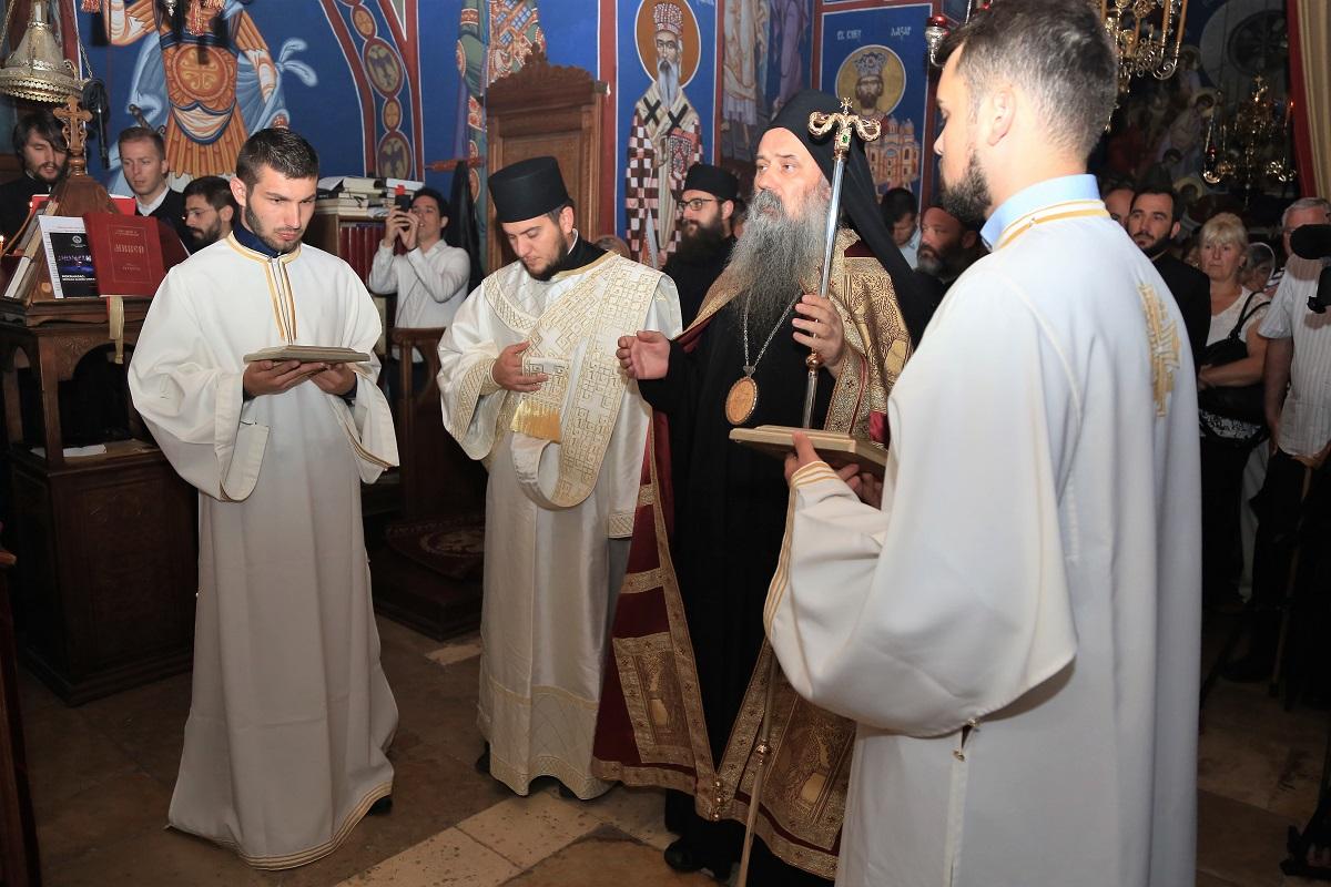 Manastir Krka - episkop Fotije predvodio je današnju liturgiju (Foto: Tris/H. Pavić)